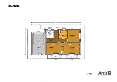 Plan rez-de-chaussée modèle Bisanne