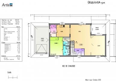 Plan modèle Sequoia | maison bois Artis