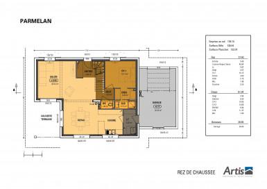 Plan modèle Parmelan garage accolé