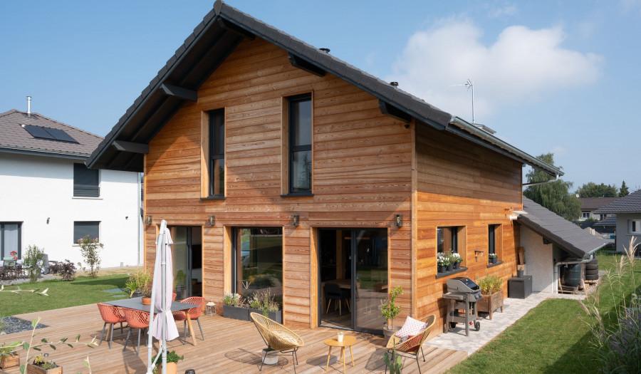 Célia et Robert : une coquette maison ossature bois près d'Evian